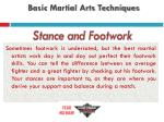 basic martial arts techniques5