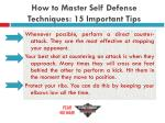 how to master self defense techniques 15 important tips16