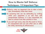 how to master self defense techniques 15 important tips18