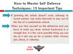 how to master self defense techniques 15 important tips19