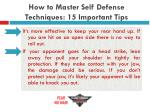 how to master self defense techniques 15 important tips20
