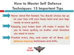 how to master self defense techniques 15 important tips21