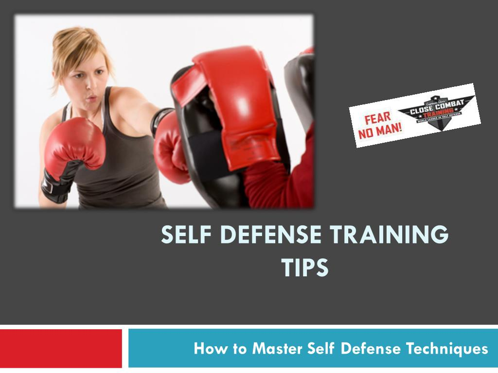 self defense training tips l.