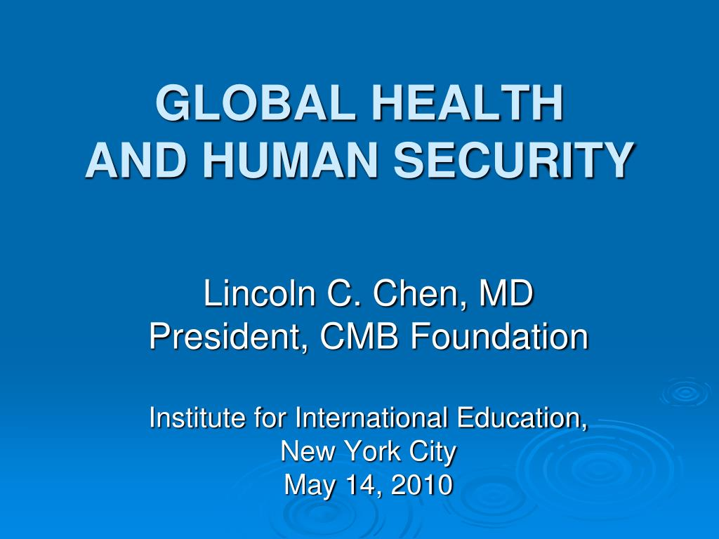 global health and human security l.