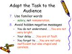 adapt the task to the audience14
