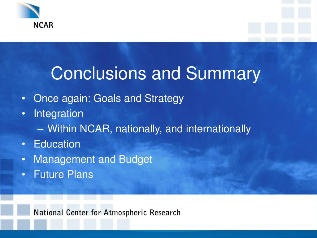 conclusions and summary l.