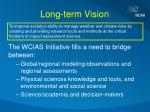 long term vision