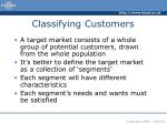 classifying customers