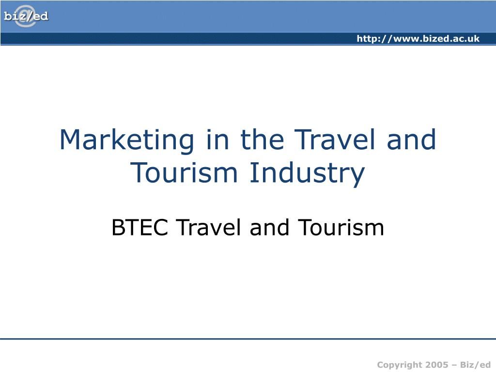 marketing in the travel and tourism industry l.