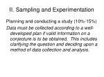 ii sampling and experimentation