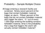 probability sample multiple choice