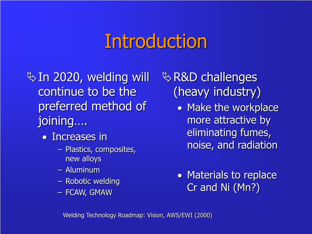 In 2020, welding will continue to be the preferred method of joining….