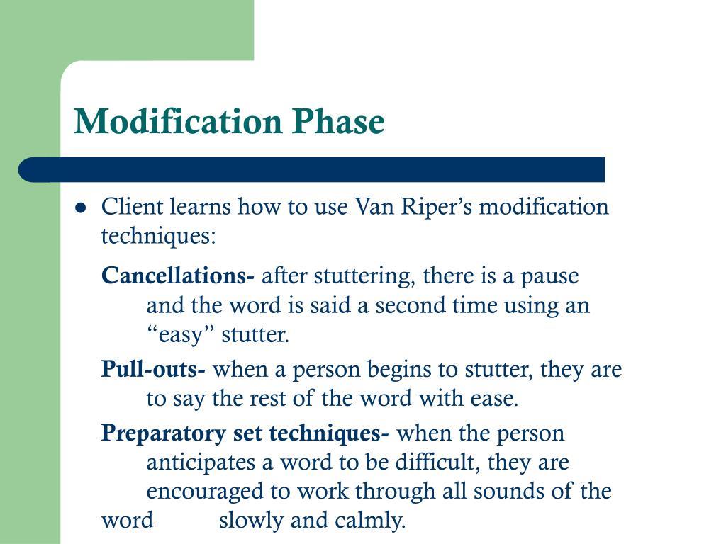 Modification Phase
