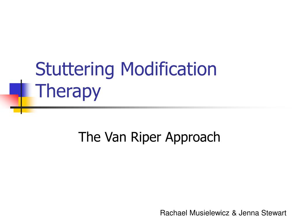 stuttering modification therapy l.