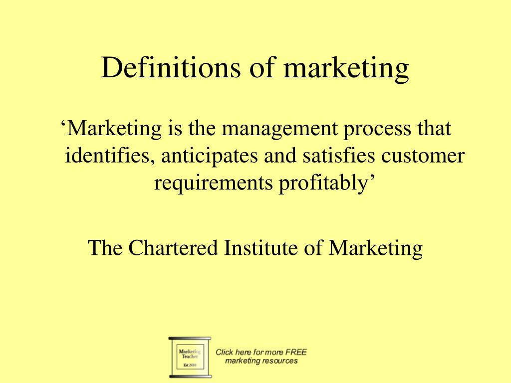 definitions of marketing l.
