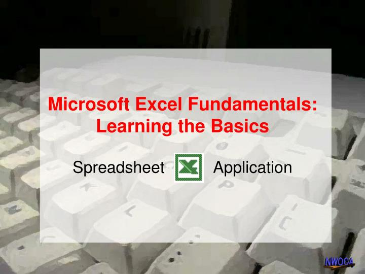 Microsoft excel fundamentals learning the basics