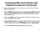 creating the microsoft outlook style graphical component continued