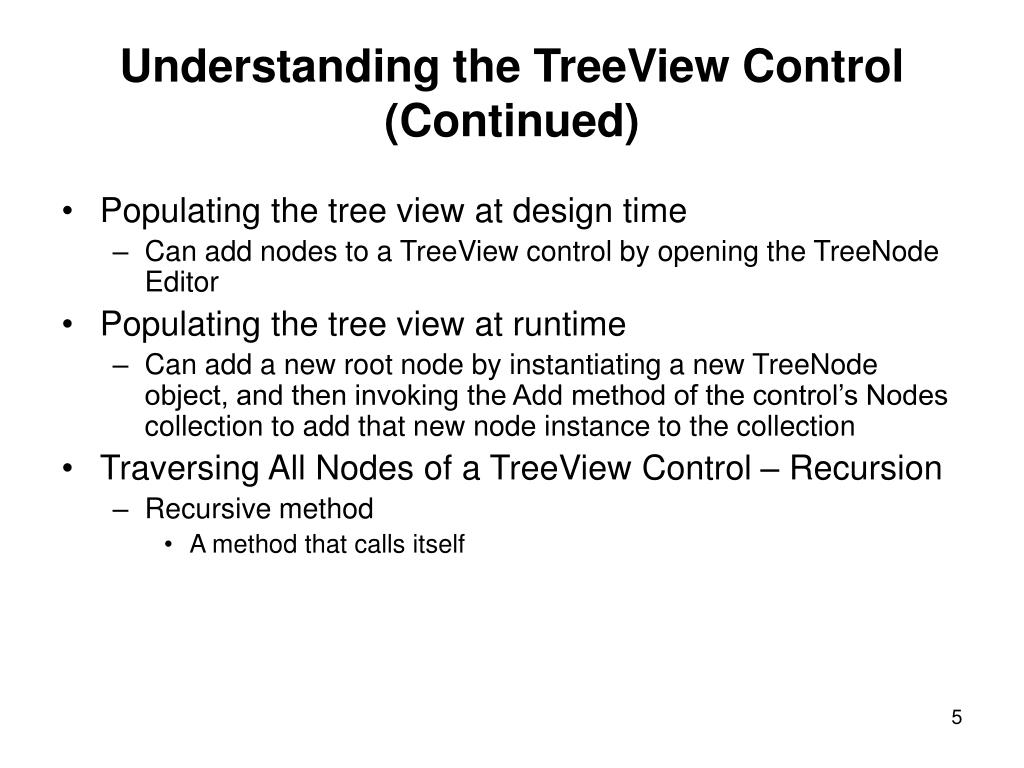 Understanding the TreeView Control (Continued)