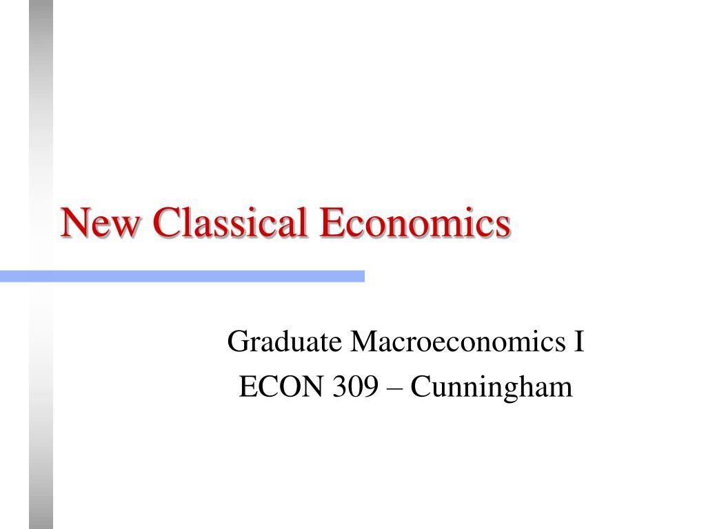 new classical economics l.