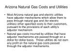 arizona natural gas costs and utilities
