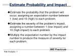 estimate probability and impact