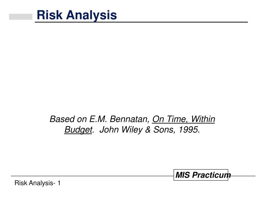 risk analysis l.