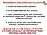 meccanismo azione pillola contraccettiva