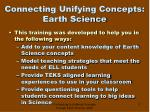 connecting unifying concepts earth science