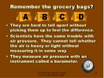 remember the grocery bags