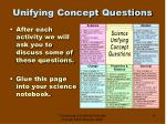 unifying concept questions