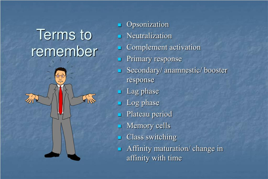 Terms to remember