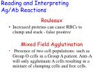 reading and interpreting ag ab reactions34