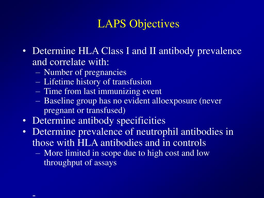 LAPS Objectives