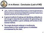 in re alonso conclusion lack of wd