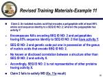 revised training materials example 1118