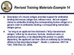 revised training materials example 14