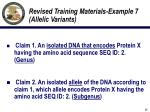 revised training materials example 7 allelic variants