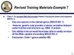 revised training materials example 713