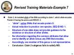revised training materials example 714