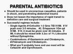 parental antibiotics