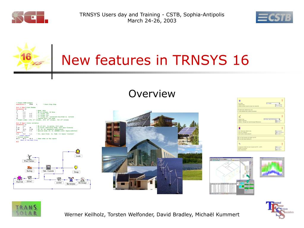 new features in trnsys 16 l.
