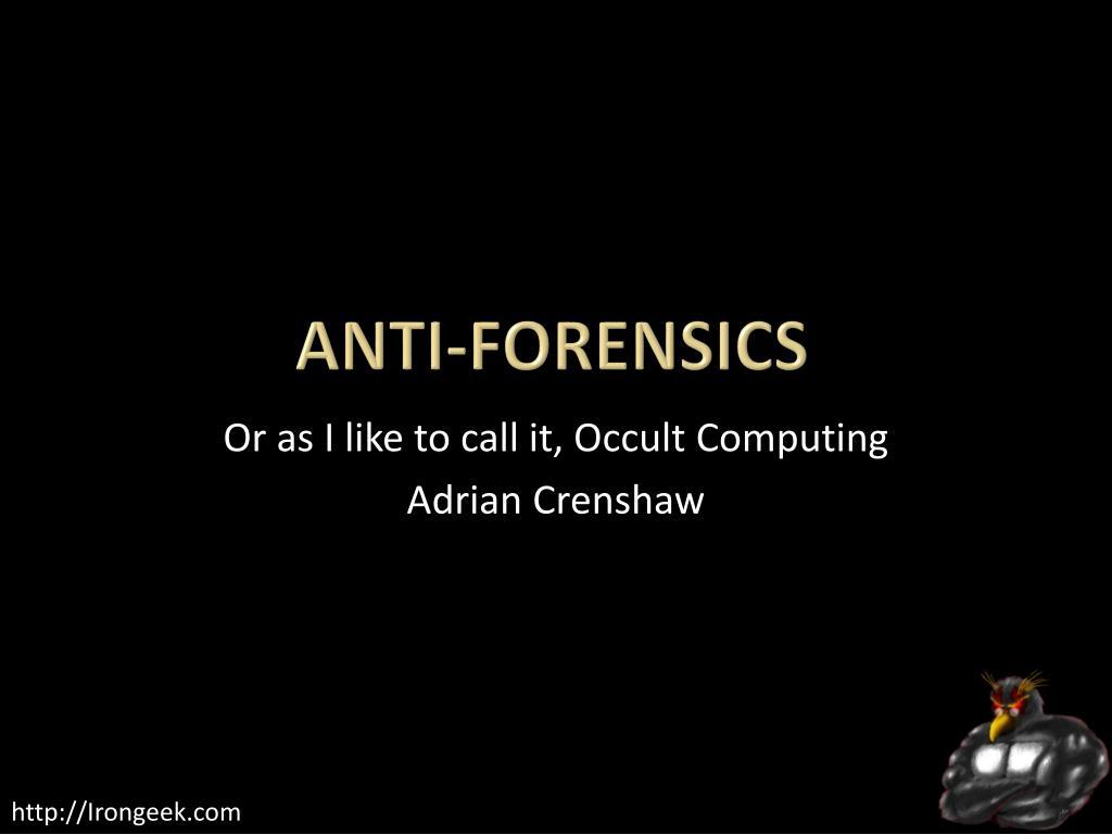 anti forensics l.