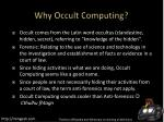 why occult computing
