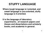 stuffy language