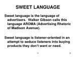 sweet language