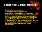 sentence completion 2