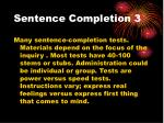 sentence completion 3
