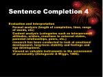 sentence completion 4