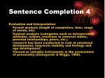 sentence completion 4