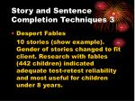 story and sentence completion techniques 3